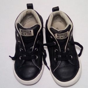 CONVERSE CT STREET MID LEATHER SNEAKERS